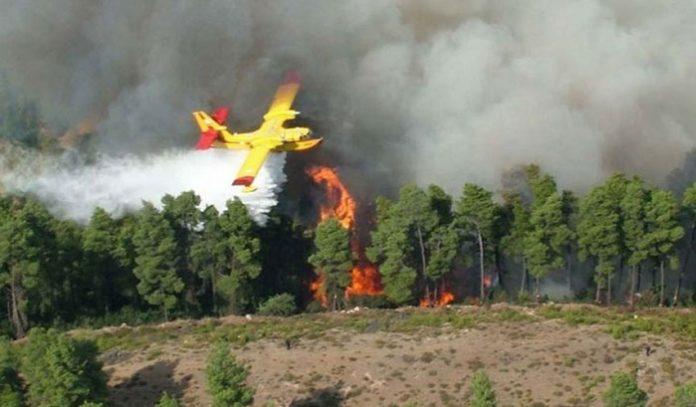 Πυροσβεστικό αεροπλανο φωτια