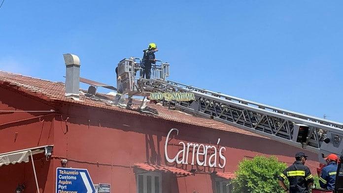 Φωτιά στην καμινάδα του Carrera's